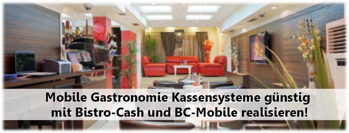 Mobile Tablet Gastronomie Kassensysteme mit Bistro-Cash