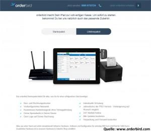 Vergleich von Tablet-Gastronomie-Kassensystemen iPad mit orderbird