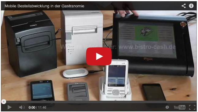 YouTube Video Gastronomie-Tablet-Kassensystem