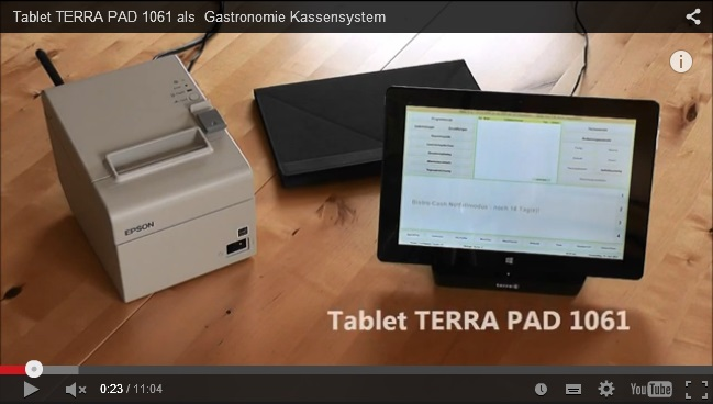 YouTube Video Gastronomie-Tablet-Kassensystem