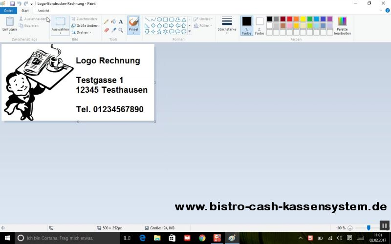 Logos ausdrucken mit Bistro-Cash und dem Bondrucker Epson TM-T20II